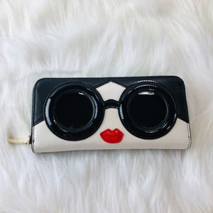 alice + olivia Stace Face Zip Leather Wallet